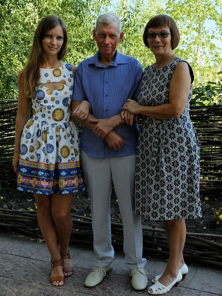 Я с родителями, Ульяновск, 2014 год