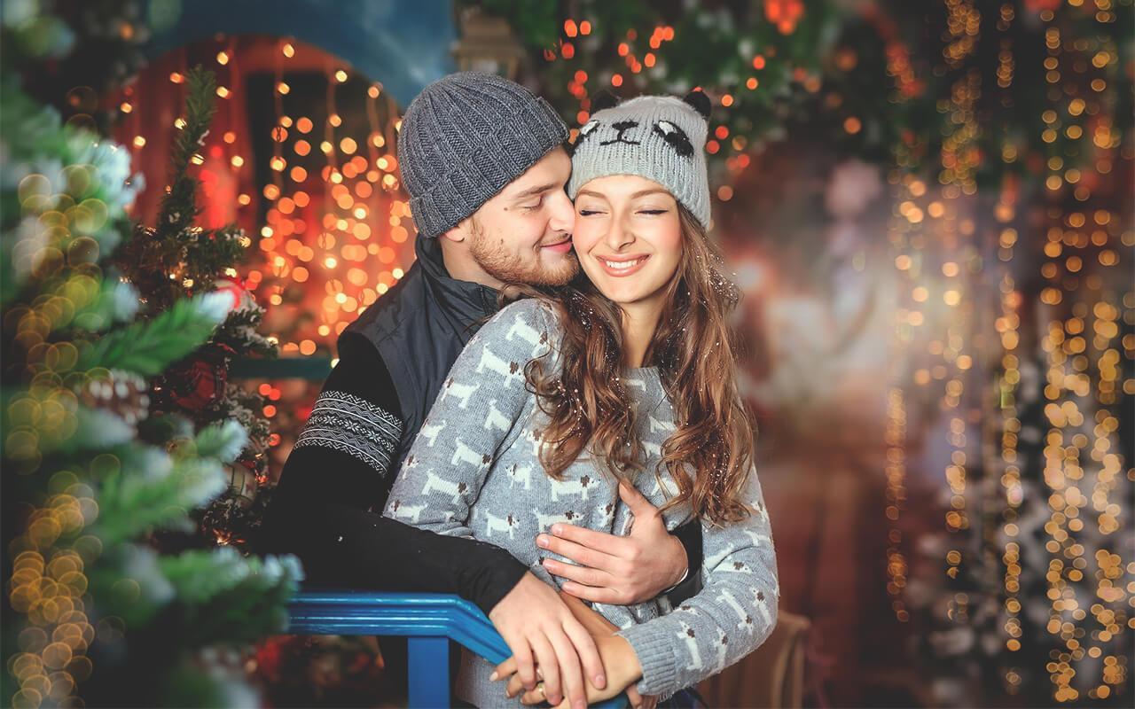 встречаем новый год +с мужем